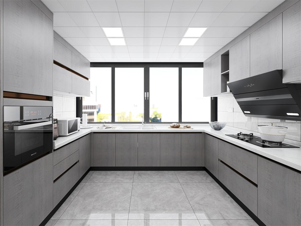 开放式厨房定制橱柜门板怎么选?